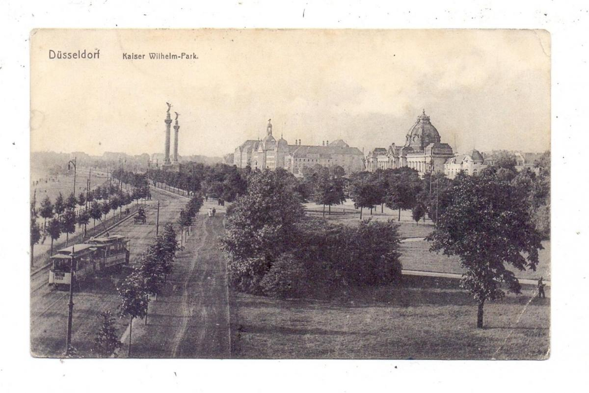 4000 DÜSSELDORF, Kaiser-Wilhelm-Park, 1918, Druckstelle 0