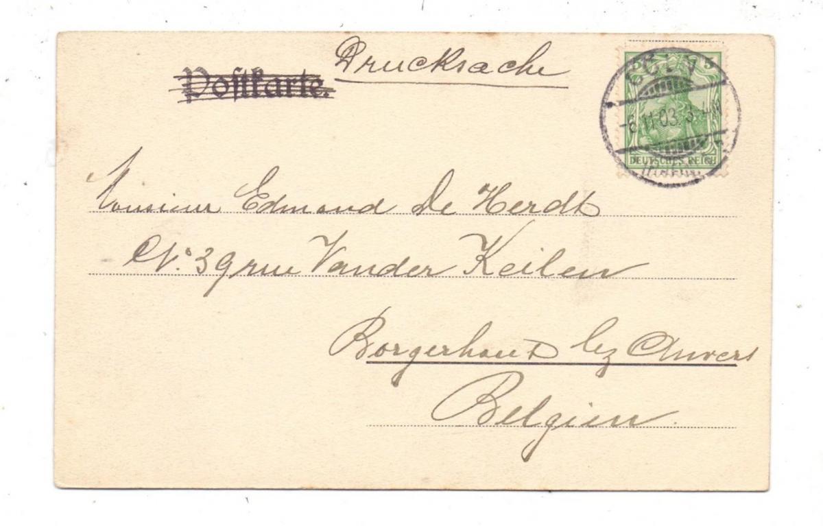 5000  KÖLN, Kirche, St. Gereon, Innenansicht, 1903 1