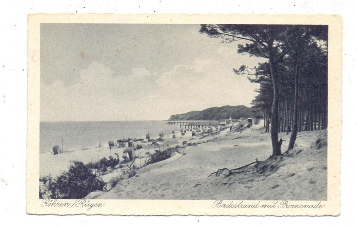 0-2345 GÖHREN / Rügen, Badestrand mit Promenade 0