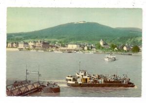 5300 BONN - BAD GODESBERG, Rheinfähre Godesberg - Königswinter, Ende 50er Jahre