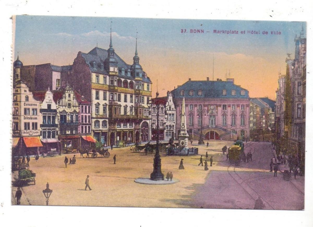 5300 BONN, Marktplatz et Hotel de Ville, 1925, franz. Besatzungszeit 0