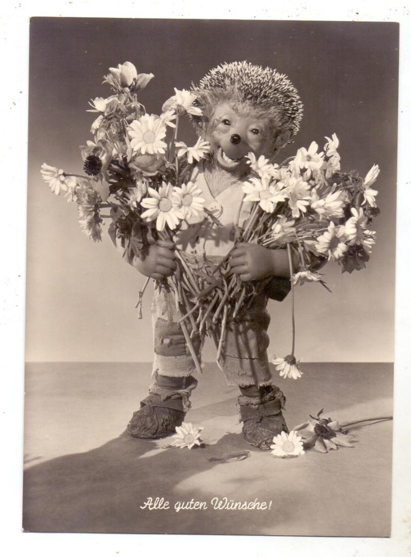 MECKI - Alle guten Wünsche, Mecki mit Blumenstrauss 0