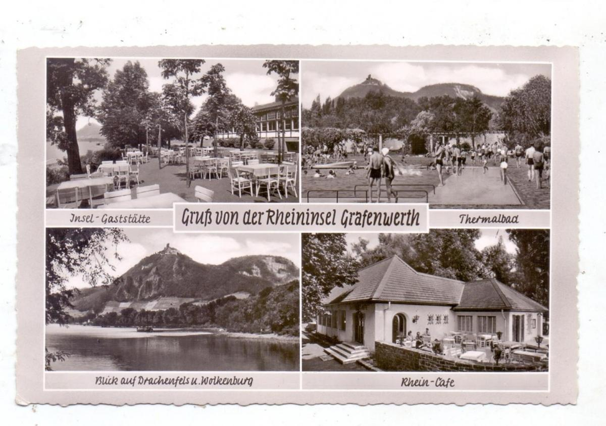 5340 BAD HONNEF - GRAFENWERTH, Rheininsel, 1957 0