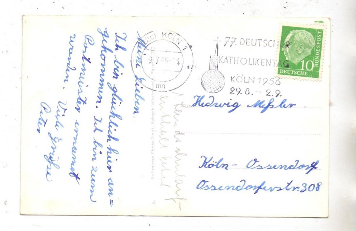 5464 ASBACH - NIEDERMÜHLEN, Haus Niedermühlen, 1956 1