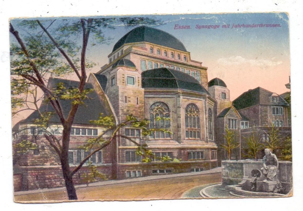 4300 ESSEN, Synagoge, 1918, nach Weismes verschickt, Malmedy Zensur 0