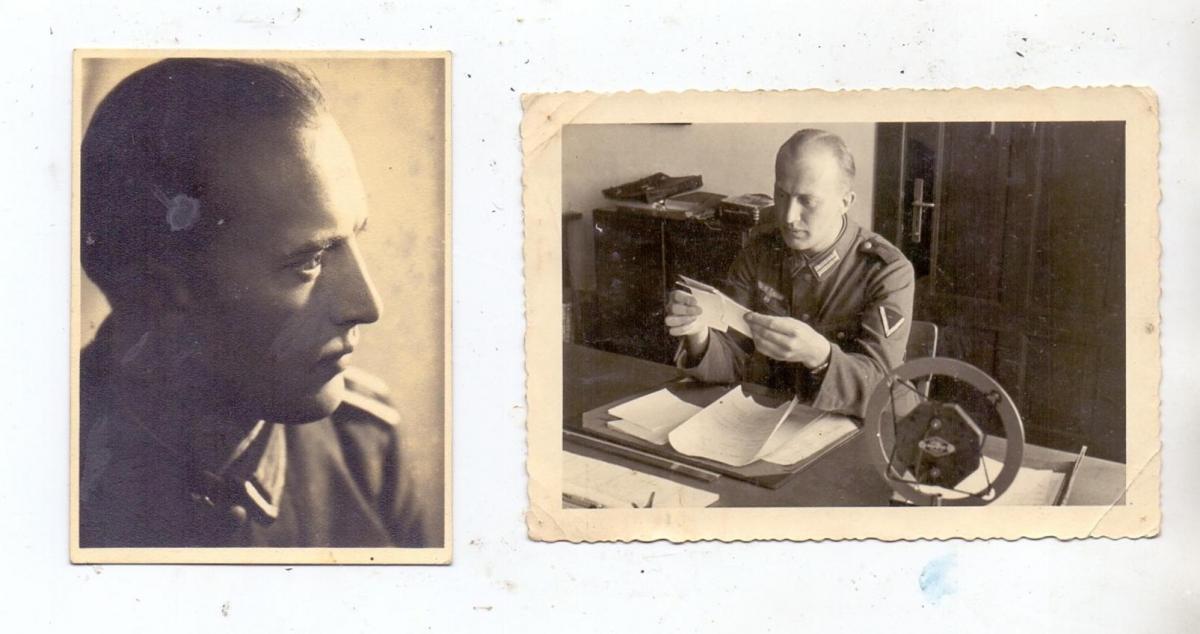 MILITÄR - UNIFORM, Wehrmacht, 2 Kleinphotos, 1940 & 1943 0