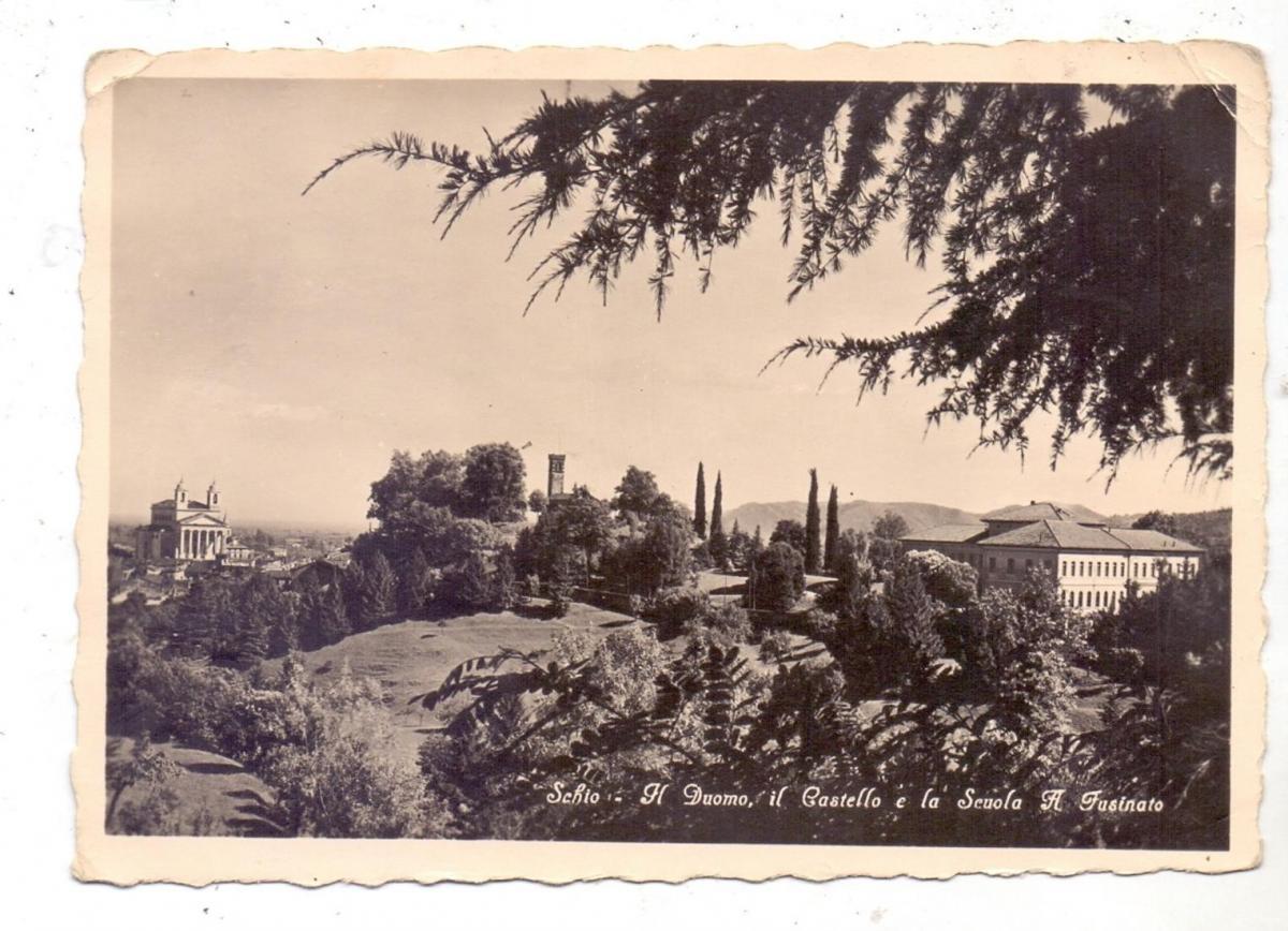 I 36015 SCHIO, Il Duomo, il Castello e la Scuola a Fusinato, kl. Druckstellen 0