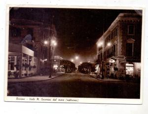 I 47838 RIMINI, Viale M. Ceccarini dal mare, notturno, 1947