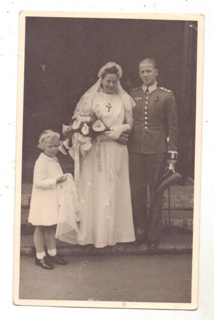 MILITÄR - UNIFORM, Wehrmacht, Hochzeit / Wedding, Photo-AK 0