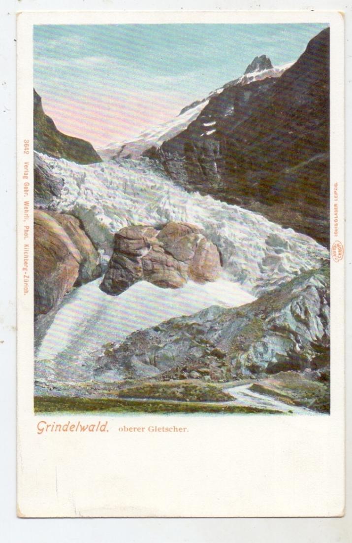 CH 3818 GRINDELWALD BE, Oberer Gletscher, ca. 1905 0
