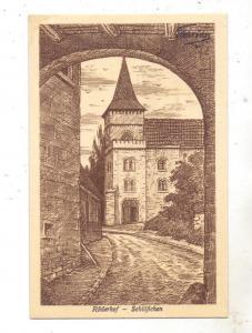 0-3603 DINGELSTEDT - HUY, Röderhof Schlößchen, Künstler-Karte