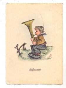 KINDER - Junge mit Tuba und Vogel