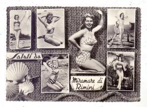 I 47838 RIMINI, PIN UPS, Bikini, 1959