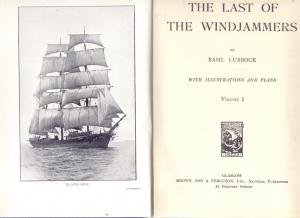 THE LAST OF THE WINDJAMMERS, Vol. I & II, 1963 Glasgow, normal and complete condition, cornered