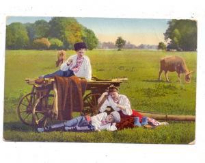 UKRAINE - Ukrainische Typen,Landwirtschaft, 1915, deutsche Feldpost