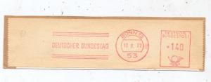 5300 BONN - GRONAU, DEUTSCHER BUNDESTAG, Maschinen-Stempel 1972