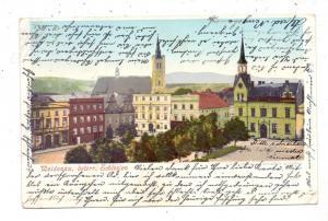 BÖHMEN & MÄHREN - WEIDENAU / VIDNAVA, Rathausplatz, Ecknicke