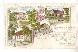 NIEDER - SCHLESIEN - WOHLAU-GARBEN / WOLOW-GARWOL, Lithographie, Gerichtskretscham, Schule, Forsthaus..