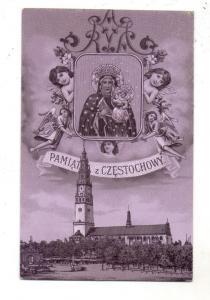 OBER - SCHLESIEN - CZENSTOCHAU / CZESTOCHOWA, Schwarze Madonna, Kloster, Präge-Karte / oznakowane