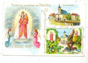 BÖHMEN & MÄHREN - SCHAROSCHITZ / ZAROSICE, Wallfahrtskirche, Lithographie, rücks. kl. Klebereste