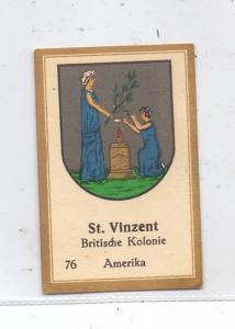ST. VINCENT - GRENADINES - Staatswappen, Abdulla Sammelbild / Cinderella