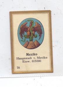 MEXICO, Staatswappen, Abdulla Sammelbild / Cinderella
