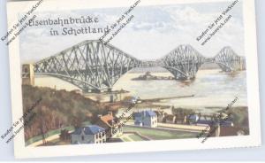BRÜCKEN - Eisenbahnbrücke Schottland (Firth of Forth), Homann-Sammelbild