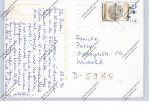 DDR 1990, Michel 3341, 25 Pf. Bibliotheken, AK nach Werdohl 29.06.1990