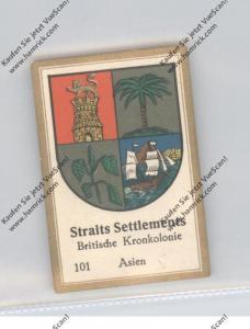 MALAYSIA - STRAITS SETTLEMENT, Staatswappen, Abdullah Vignette / Cinderella