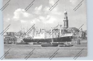 OZEANSCHIFFE - Fracht, Hamburger Hafen, 1955