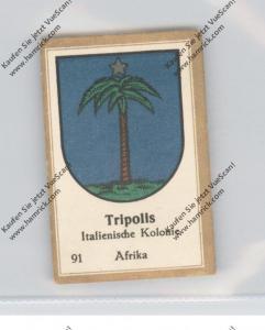 LIBYEN - TRIPOLIS - Stadtwappen - Abdullah-Vignette / Cinderella