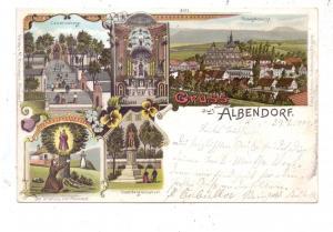 NIEDER - SCHLESIEN - ALBENDORF / WAMBIERZYCE, Lithographie, Gruss aus..., kl. Einriss