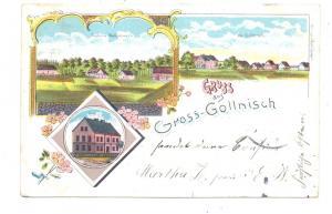 NIEDER - SCHLESIEN - BUNZLAU - GROSS GOLLNISCH / GOLNICE, Lithographie, Colonie Wldvorwerk, Schule