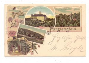 NIEDER - SCHLESIEN - WALDENBURG / WALBRZYCH, Lithographie Schloß Fürstenstein