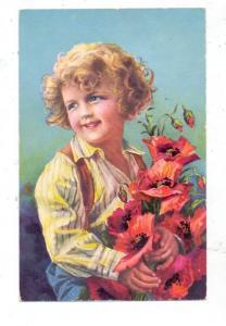 KINDER - Mädchen mit Blumenstrauss