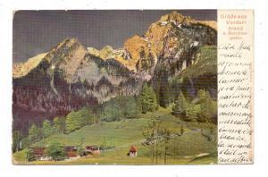 8240 BERCHTESGADEN - VORDERBRAND, Dorfansicht, 1906
