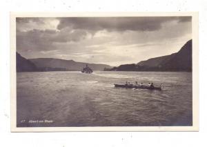 SPORT - RUDERN / Rowing, Abend am Rhein, Rheindampfer, Hoursch & Bechstedt, Rheingoldserie, 1930