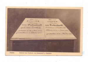 OBER - SCHLESIEN - NEISSE / NYSA, Grabmal des Freiherrn von Eichendorff und Gemahlin