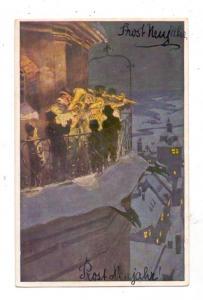 KÜNSTLER - ARTIST - PAUL HEY, Neujahrskarte # 14, vorderseitig beschrieben