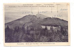 F 67700 SAVERNE / ZABERN, Blick auf Hohbarr vom Brotschturm, 1945