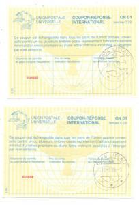 SCHWEIZ - 2 IAS, IRC, CRI, Internationale Antwortscheine 1998 Littau