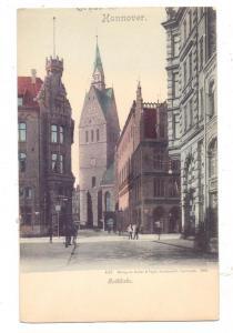 3000 HANNOVER, Marktkirche und Umgebung, ca. 1905