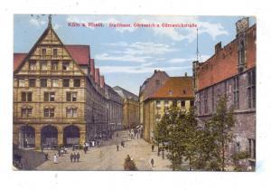 5000  KÖLN, Gürzenich, Stadhaus, Gürzenichstrasse, 1921, kl. Eckmangel