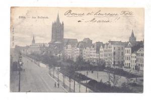 5000  KÖLN, Am Bollwerk, Rheinufer, 1909