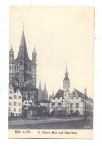 5000  KÖLN, Rheinufer, Stapelhaus, Kirche St. Martin