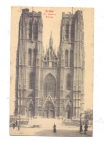B 1000 BRUSSEL, H.Gudula Kirche, Ed.: Deutsches Eisenbahnerheim, Brabanterstrasse 34-36, Feldpost 1917