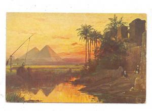 EGYPT - GIZEH, Künstler-Karte