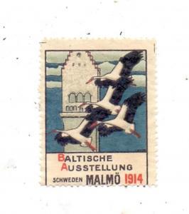 S 20010 MALMÖ, Baltische Ausstellung 1914, Vignette