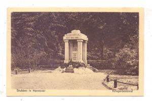 2855 BEVERSTEDT - STUBBEN, Kriegerdenkmal, 1927
