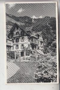 CH 6354 VITZNAU, Hotel Pension Flora, 1952, kl. Eckknick